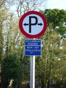 Parking is permitted
