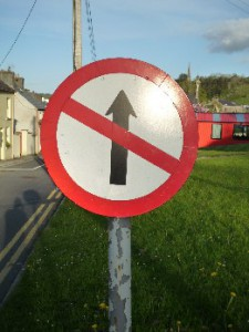 No Entry ,One Way Street